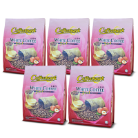[5 Pack Bundle] Coffeemark White Coffee 3-in-1 Hazelnut @ 15's x 36g