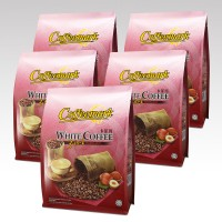 Coffeemark White Coffee 3-in-1 Hazelnut @ 15's x 36g [Bundle of 5]