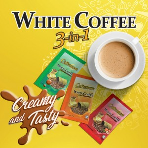 6-Pack Coffeemark White Coffee 3-in-1 Combo [2 packs Classic@15'sx36g + 2 packs Hazelnut@15'sx36g + 2 packs Less Sugar @15'sx32g]