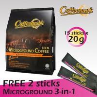 Coffeemark Microground Coffee 2-in-1 @ 15's x 20g [FREE 2 STICKS x 28g Microground Coffee 3-in-1]