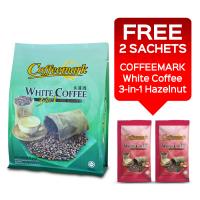 Coffeemark White Coffee 3-in-1 Less Sugar @ 15's x 32g [FREE 2 SACHETS x 36g 3-in-1 Hazelnut]