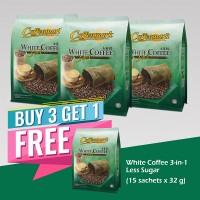 Coffeemark Instant Premix White Coffee 3 in 1 Less Sugar @ 15's x 32g [BUY 3 GET 1 FREE]
